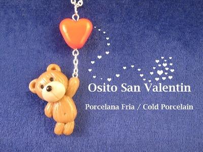 Osito San Valentin en Porcelana Fria. Cold Porcelain