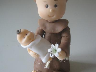Santo Antonio de Biscuit. Porcelana Fria by Clau