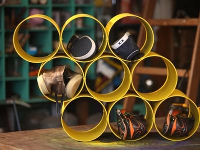 Sapateira com tubo de PVC! Aprenda a fazer!!