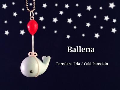 Ballena en Porcelana Fria. Cold Porcelain