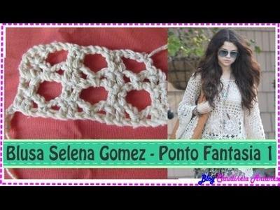 Blusa em Croché Selena Gomez - Aula 4 - Ponto Fantasia 1