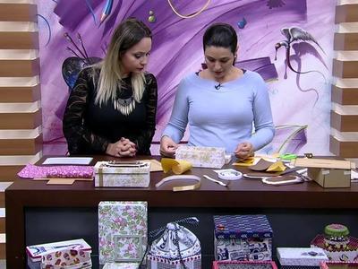Mulher.com 17.06.2015 Ana Santiiago - Cartonagem em prática com tecido adesivado