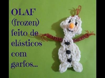 Olaf (frozen) de elásticos ,com garfos.