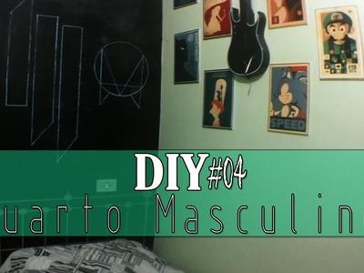 Decoração Quarto Masculino + Diy + Cabeceira Adesiva - (Repaginada Rápida)