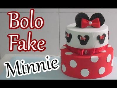 DIY - Como Fazer Bolo Fake da Minnie