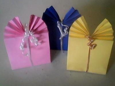 DIY- Como fazer sacola de papel para presente fácil e linda