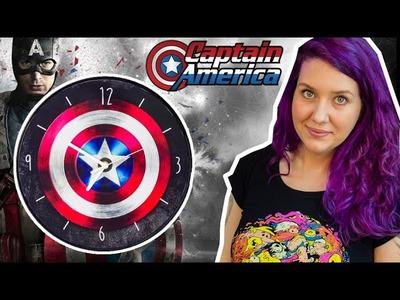 DIY Geek: Relógio de Parede do Capitão América