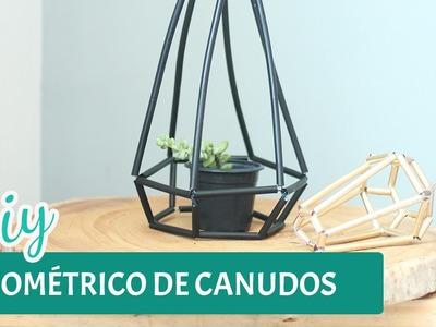 DIY - Geométrico com canudos e 5 formas de uso na decoração  | Por GavetaMix