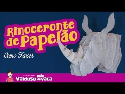 RINOCERONTE DE PAPELÃO | CARDBOARD RHINO | DIY