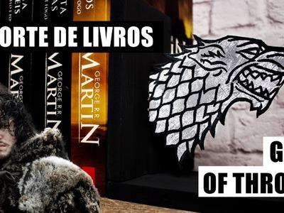 DIY Game of Thrones Suporte de livros (porta livros.aparador) | Bookends GOT