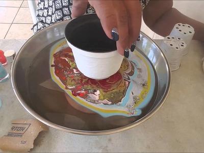 DIY.Reciclando vasinhos com esmalte de unhas(RECICLAR MACETAS CON ESMALTES DE UÑAS)