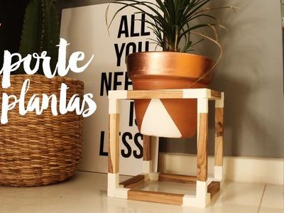DIY: Suporte de plantas de madeira