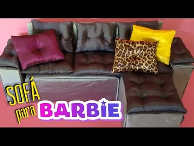 Como fazer sofá para Barbie, Monster High, Ever After High .  DIY sofa for Barbie doll