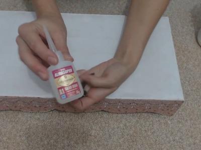 DIY: Artesanato já: Como colar pezinhos forrar bandeja