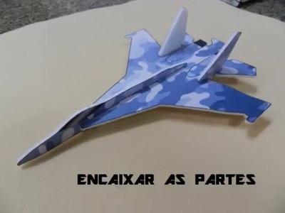 DIY: COMO FAZER UM AVIÃO CAÇA F- 15 - LANÇADOR