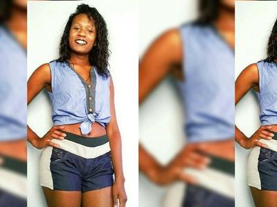 Diy- Conjunto Jeans Moletom Customizado Com Calça Jeans.