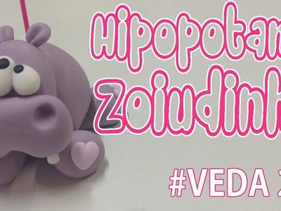 DIY - Hipopotamo Zoiudinho - Sah Passa o Passo #VEDA 27