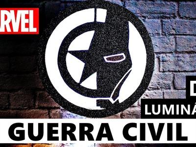 DIY Luminária Capitão América e Homem de Ferro | Guerra Civil (DIY lamp Civil War )