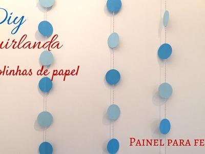 Diy- Cortina de bolinhas de papel- painel de festas | Katherinne Ribeiro