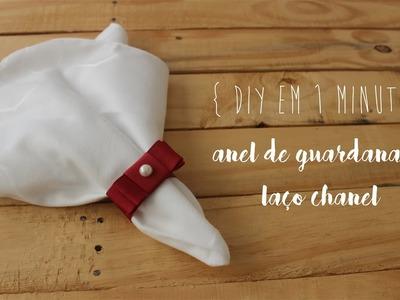 DIY em 1 Minuto: Anel de Guardanapo de Laço Chanel - Faça Você Mesmo