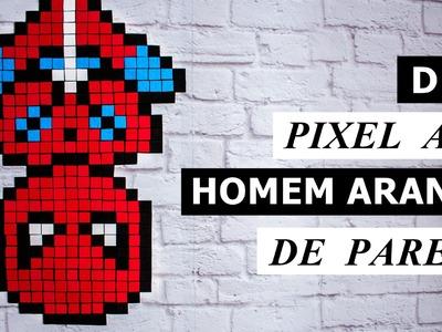 DIY Homem Aranha Pixel Art de parede - Guerra Civil (DIY Spider Man Civil War)