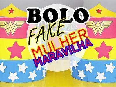 COMO FAZER BOLO FAKE DE EVA MULHER MARAVILHA - FAÇA SUA FESTA | POR CAROL GOMES