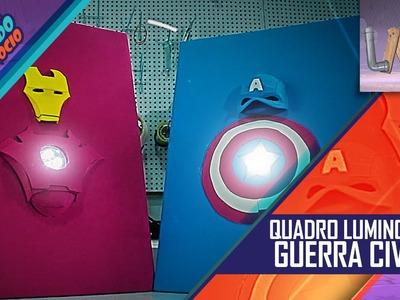 DIY: Quadros Luminosos - Capitão America - Guerra Civil - CUG#20