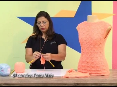 Blusa em trico com Cisne Izzy com Cristina Amaduro