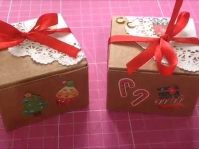 Faça você mesmo - Caixinhas craft para o natal