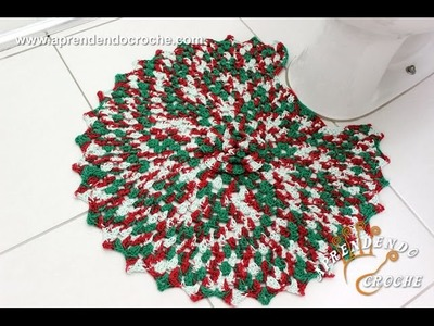 Jogo de Banheiro em Crochê Natal - Tapete do Vaso
