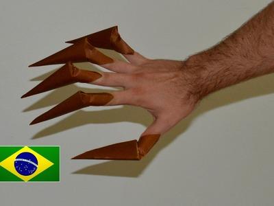 Origami: Garras de Monstro - Instruções em português PT BR