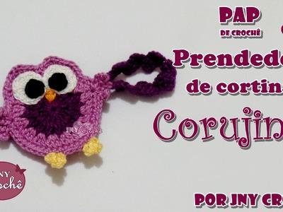 Prendedor de cortina corujinha - JNY Crochê