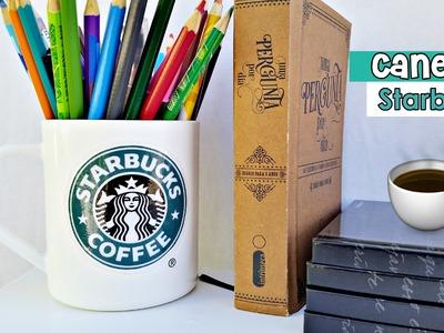 DIY: Caneca Starbucks - Decoração para o quarto | Starbucks Cup