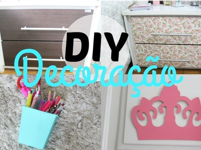 DIY decoração | criado-mudo, porta lápis e mais