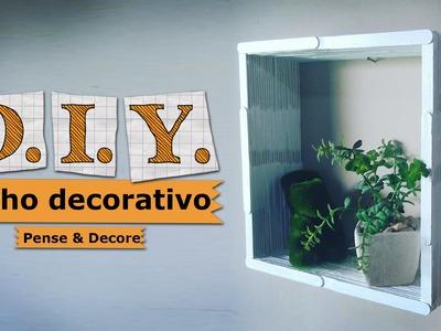 DIY - Aprenda a fazer nicho com palitos de picolé