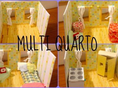 DIY - Como fazer um multi quarto para suas bonecas