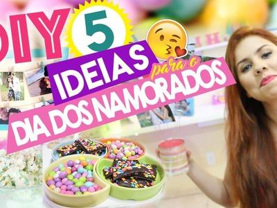 5 DIY dia dos namorados - 5 DIY Valentine's Day | Decoração, brigadeiro e pipoca doce |