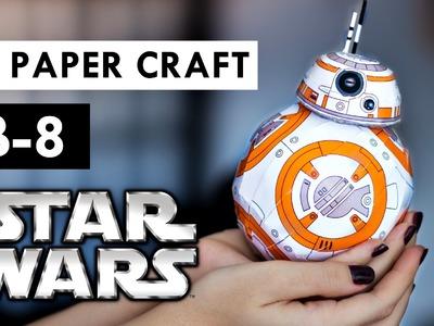DIY BB-8 STAR WARS Como fazer - Paper Craft.ToyArt Decoração geek