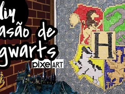 DIY - Brasão de Hogwarts Pixel Art - Eduardo Wizard