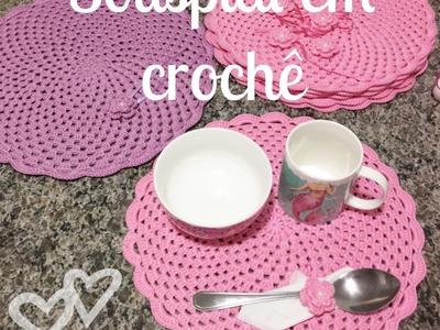 DIY - Como fazer Jogo de Sousplat em Crochê + Porta-guardanapos. Porta-talheres - Part II