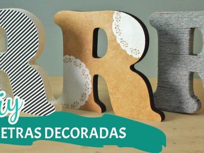 DIY DIA DOS NAMORADOS | Letras decoradas | Por GavetaMix
