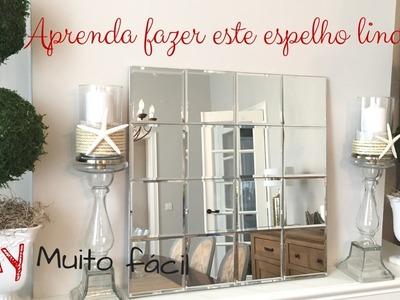 Diy- faça um espelho lindo e super fácil- decore sem gasta muito- Katherinne Ribeiro