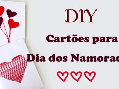 DIY: Ideias de Cartões de DIA DOS NAMORADOS - Criativo, Fácil e Barato! Valentine's Day Cards Ideas