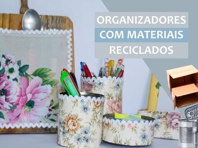 DIY: Organizadores para casa feitos com materiais reciclados (3 ideias)