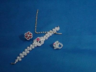 DIY- customização de anel e pulseira com pérolas
