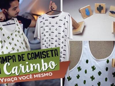 DIY Estampa de Camiseta com Carimbo Caseiro -  Aprenda com Edu