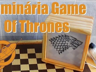 Faça você mesmo uma incrível luminária Game Of Thrones