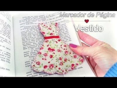 Marcador de Página Vestido de tecido  - DIY Bookmark