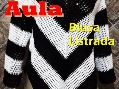 Blusa em Crochet - TAM ÚNICO - M - PARTE 1