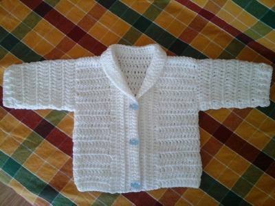 Casaquinho Gustavo em crochet -1ª Parte